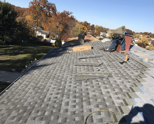 CertainTeed grey shingles