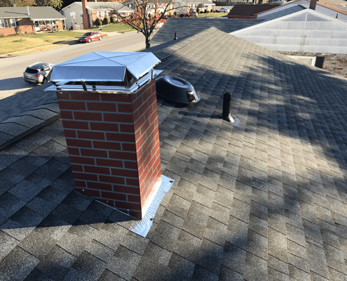 Pewter Gray Asphalt shingles