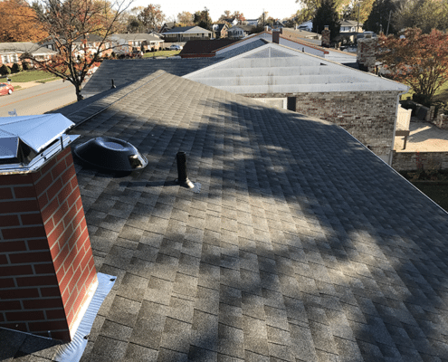 Pewter grey Timberline shingles