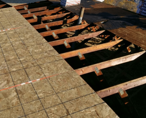 Plywood replacement on roof