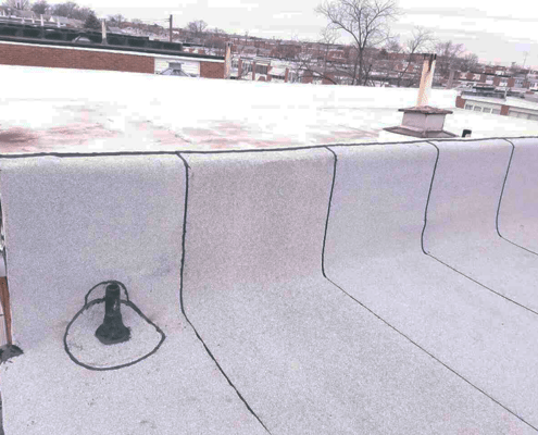 Flat roof service