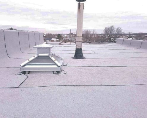 Skylight replacement on flat roof