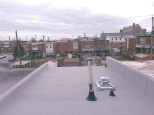 pipe collar repair on flat roof