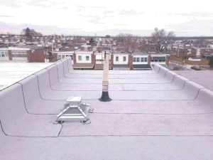 New torch down flat roof