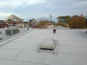 Firestone white flat roof