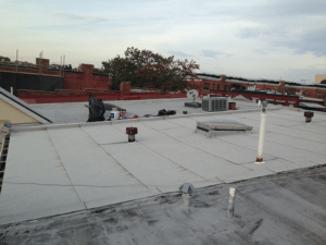 Firestone flat roof