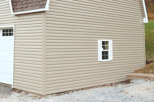 Dutch lap siding installation