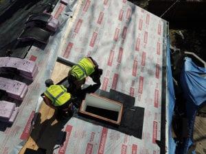 composite shingle roof