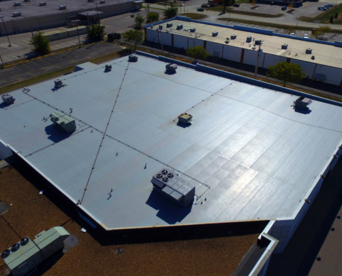Commercial,Roof,Repair,And,Construction,Photos.