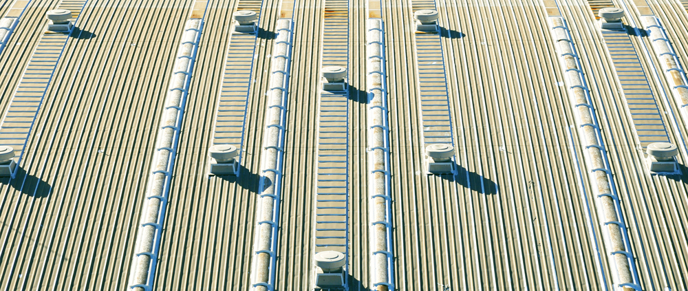 Roof Of Factory With Roof Ventilators